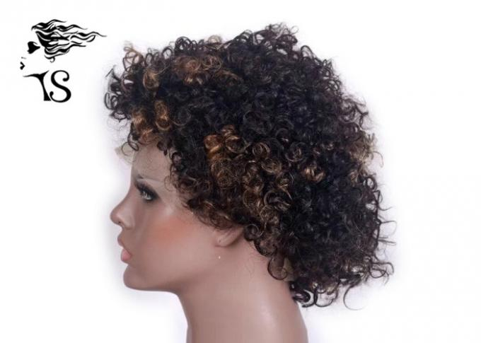 Short Kinky Curly Indian Remy Full Lace Wigs Human Hair For African American Women