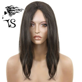 Black Straight African American Lace Front Wigs , Virgin 100% Human Lace Front Wigs