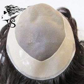 Men's Toupee Hair Pieces With Pu Coated All Around Perimeter And Folded Lace Edge