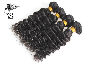 Non Remy Human Hair Weft Hair Extensions Deep Wave 4 Bundles No Tangle