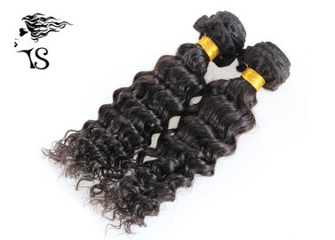 Natural Black 7A Grade Weft Hair Extensions Bundles Deep Wave for Fashion Women