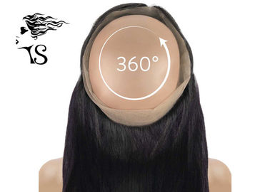 Straight 360 Lace Frontal Closure For African Black Women 100% Indian Remy Hair
