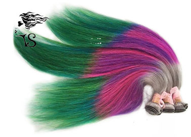 Stunning Rainbow Turkey Colored Human Hair Extensions 100% Non Remy Human Hair