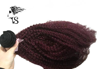 Kinky Curly Burgundy Hair Extensions Human Hair , Virgin Ukraine Hair Extensions