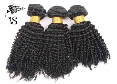 "Kinky Curly Virgin Brazilian Hair Extensions Natural Black 8""-32"" Hair Length"