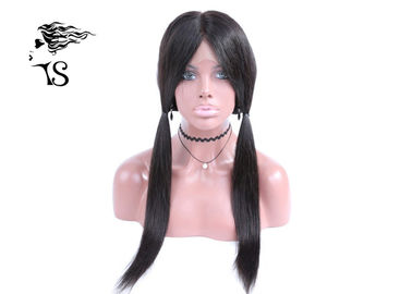 24 Inch Swiss Lace Straight 360 Frontal , Custom 360 Lace Front Closure Wigs