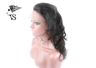 18 inch Black Body Wave 360 Lace Frontal Wig Closure for African American Women