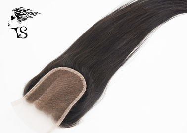 Swiss Lace Frontal Brazilian Hair Closure Piece 4x4 Straight Three Part Tangle Free