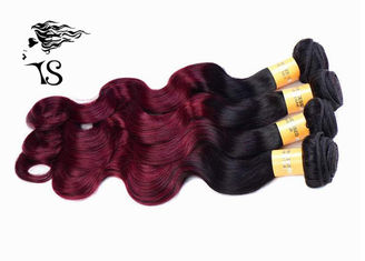 Ombre Black Burgundy Hair Extensions Human Hair 8a Body Wave No Tangle