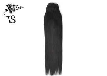 Black Women Straight Indian Remy Hair Extensions , 8A Indian Human Hair Weave