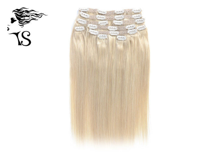 Golden Blonde Clip In Human Hair Extensions With 100 Remy Human Hair