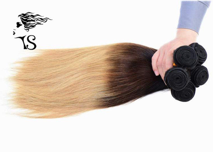 8a Silky Straight Long Ombre Human Hair Extensions With Black Brown
