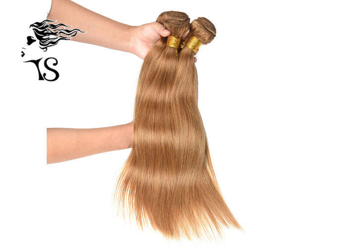Ginger Blonde 7a 100 Mongolian Remy Hair Extensions Silky Straight